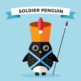 Cartoon penguin character vector illustration Royalty Free Stock Image