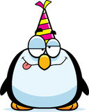 Cartoon Penguin Drunk Party Stock Images
