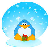 Cartoon penguin with gifts Royalty Free Stock Photo