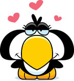 Cartoon Penguin Love Royalty Free Stock Photography