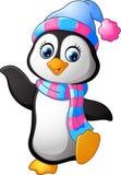 Cartoon penguin presenting. Illustration of Cartoon penguin presenting Royalty Free Stock Photo