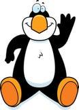 Cartoon Penguin Sitting Stock Photography