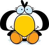 Cartoon Penguin Sitting Stock Photo