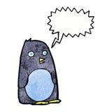 Cartoon penguin with speech bubble Stock Photography