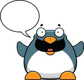 Cartoon Penguin Talking Stock Photography