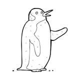 Cartoon penguin waving Stock Photography