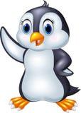 Cartoon penguin waving isolated on white background Stock Photography
