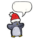 Cartoon penguin wearing hat Royalty Free Stock Photography