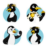 Cartoon penguins collection Royalty Free Stock Photography