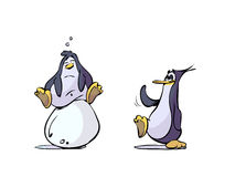 Cartoon penguins and egg Stock Photography