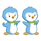 Cartoon Penguins. Vector illustration of cute cartoon baby penguins Stock Image