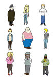 Cartoon people Stock Images
