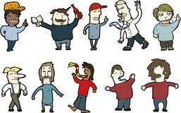 Cartoon people Royalty Free Stock Photos