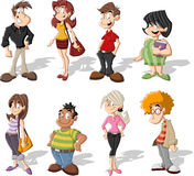 Cartoon people Royalty Free Stock Photo
