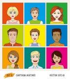 Cartoon people avatar icons Stock Photos