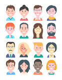 Cartoon People Avatars Royalty Free Stock Photo