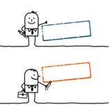 Cartoon people & blank stamp 1 stock illustration