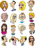 Cartoon people characters and emotions Stock Photos