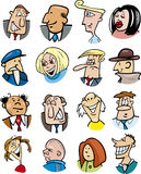 Cartoon people characters and emotions Stock Photography