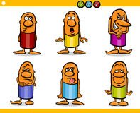 Cartoon people characters emotions. Cartoon Illustration of Funny People Emotions or Expressions Characters Collection Royalty Free Stock Photos
