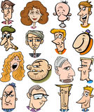 Cartoon people characters faces Stock Photos
