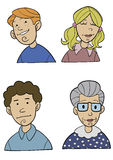 Cartoon People Close Up Royalty Free Stock Photo