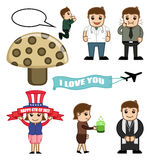 Cartoon People Concepts Vectors Royalty Free Stock Images