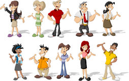 Cartoon people Stock Image