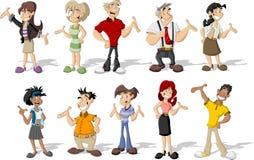 Cartoon people Stock Image