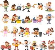 Cartoon people Stock Photos