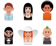 Cartoon people icons Royalty Free Stock Photo
