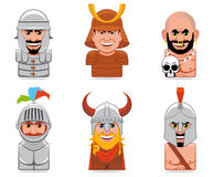 Cartoon people icons Royalty Free Stock Image