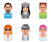 Cartoon people icons Stock Images