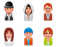 Cartoon people icons Royalty Free Stock Photography