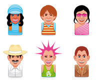 Cartoon people icons Stock Image