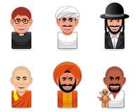 Cartoon people icons (religion). Set of six Cartoon people icons (religion Royalty Free Stock Photography