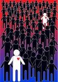 Cartoon people illustration Royalty Free Stock Images
