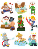 Cartoon people job Stock Image