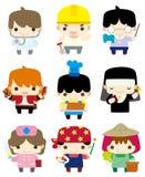 Cartoon people job icon Stock Image
