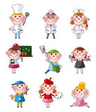 Cartoon people job icons Royalty Free Stock Photos
