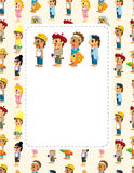 Cartoon people job seamless pattern Royalty Free Stock Photography