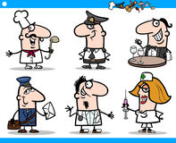 Cartoon people occupations characters set Stock Image