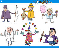 Cartoon people occupations characters set Royalty Free Stock Photo