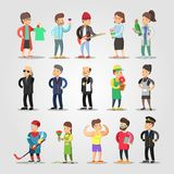 Cartoon People Professions Set Royalty Free Stock Image