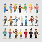 Cartoon People Professions Set   Royalty Free Stock Images
