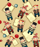 Cartoon people seamless pattern Stock Image