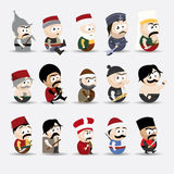 Cartoon people. Set of various cartoon people Royalty Free Stock Photos