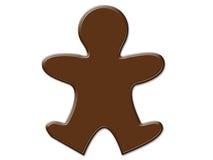 Cartoon people shape chocolate isolated Stock Photos