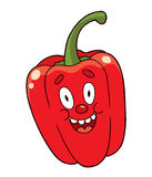 Cartoon pepper Stock Image