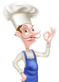 Cartoon Perfect Sign Chef Stock Images